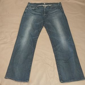 7FAM A pocket relaxed button fly jeans 39x33.5